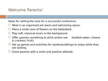 Teacher Training for Upcoming Parent-Teacher Conferences