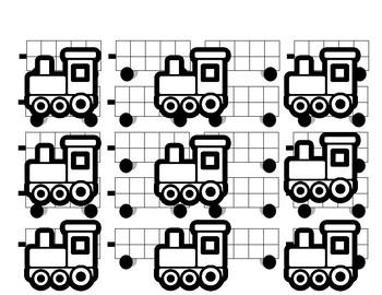 Train Tens Frames