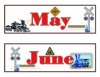 Train Calendar! Train Bulletin Board! Train Theme! Transportation Theme!