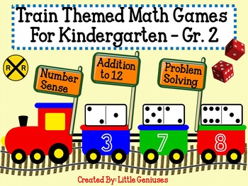 Train Themed Math Games for Kindergarten to Grade Two