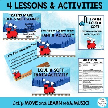 Music Lesson Bundle: Train Themed with Movement Activities for PrK, Kindergarten