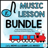 Music Lesson Bundle: Train Themed with Movement Activities