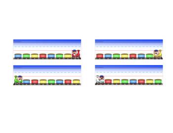 Train Themed Nameplate/Deskplate/Nametags