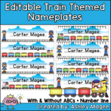 Train Themed Nameplate/Deskplate/Nametags