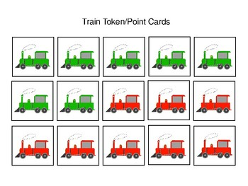 Train Themed Token Economy (Includes 5 Point Charts)