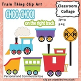 Train Things Clip Art - Color - pers & commercial use