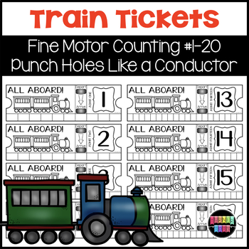 Train Ticket Fine Motor Counting