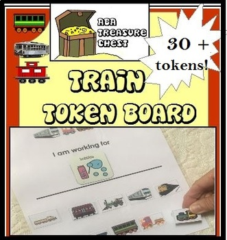 Train Token Board Autism, ABA