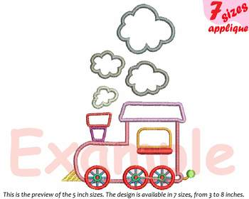 Train Toy Applique Designs for Embroidery  baby boy Birthday toys outline 20a