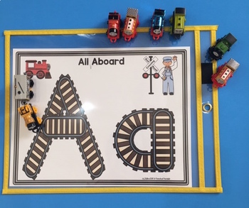 Train Track Alphabet Practice with Mats