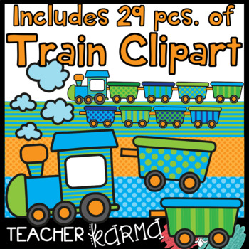 Train Track Game Clipart Kit - DIY Game Boards - FREE TRAIN