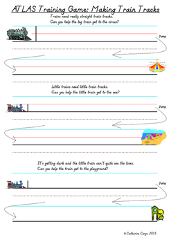 Train Track Games for Resting Letters on the Line