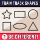 Train Track Shapes Clipart