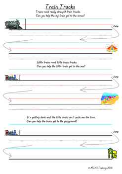 Train Tracks: Improve Resting Letters on the Line