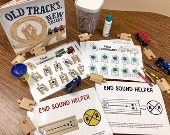 Train Tracks for Final Consonants Toy Companion FREEBIE