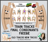 Train Tracks for Final Consonants Toy Companion FREEBIE