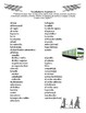 Train / Train Station Spanish Vocabulary Worksheets (Así Se Dice)