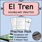 Train / Train Station Spanish Vocabulary Worksheets (Así Se Dice)