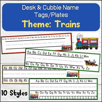 Train (Transportation theme) Desk / Name / Cubbie Tags