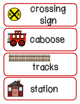 Train Vocabulary Picture Cards
