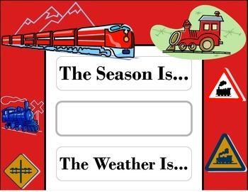 Train Weather Chart! Train Bulletin Board! Train Theme! Transportation Theme!