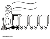 Train Word Study Worksheet for word work