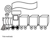 Train Word Study Worksheet for word work