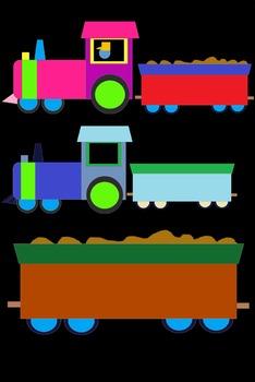 Train Worksheet Clip Art