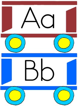 Train alphabet FREEBIE