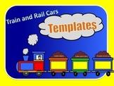 Train and Rail Cars Templates
