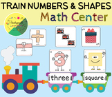 Train math center (numbers 0-20 and shapes)