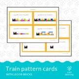 Block building pattern cards - Lego® train