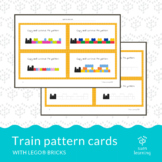 Block building pattern cards - Lego® train