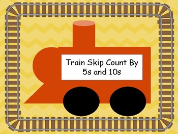 Train skip count by 5s and 10s (skip counting)
