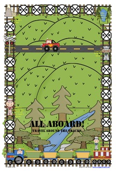 Train themed game board