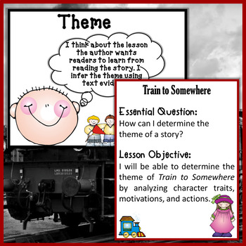 Train to Somewhere by Eve Bunting Interactive Read Aloud Lesson Plan