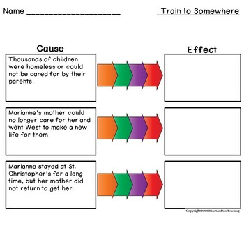 Train to Somewhere Reading Comprehension & Vocabulary Practice with Assessments