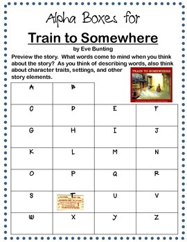 Train to Somewhere by Eve Bunting (packet)
