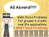 Math Journal Challenges CCSS- Real Life Application