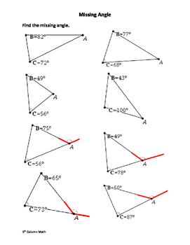 Triangle - Missing Angles