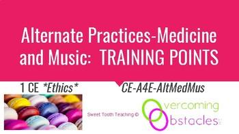 Training Points - Alternative Practices in Medicine & Music BCBA ACE CE/Training