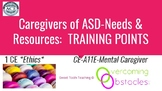 Training Points - Caregiver Needs & ASD