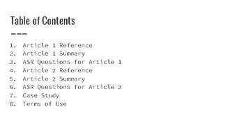 Training Points - Effectiveness of Sensory Integration BCBA ACE CE/Training