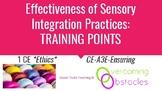 Training Points - Effectiveness of Sensory Integration BCB