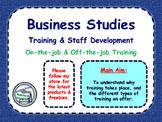 Training - Staff Development - On the Job & Off the Job Training