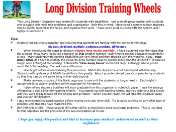 Training Wheels for Long Division