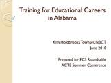 Training for Educational Careers by Kim Holdbrooks Townsel