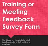 Training or Meeting Feedback Survey