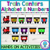 Trains Alphabet Match & Number Sense Activities Bundle