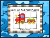 Transportation Cut and Paste Puzzles, Kindergarten, Special Education Math